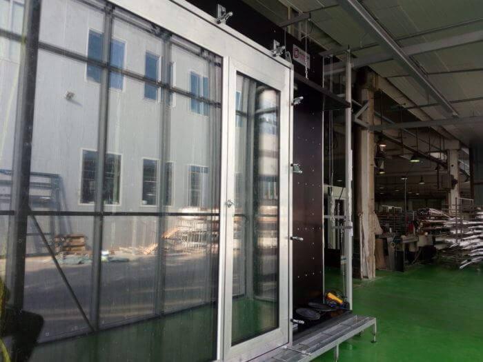 Stanowisko dobadań okien idrzwi WINDOORTESTER